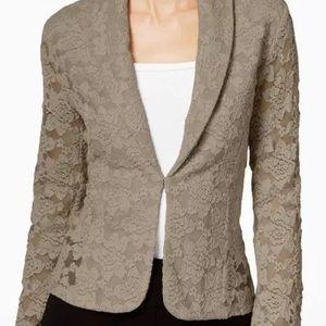 Brown lace blazer